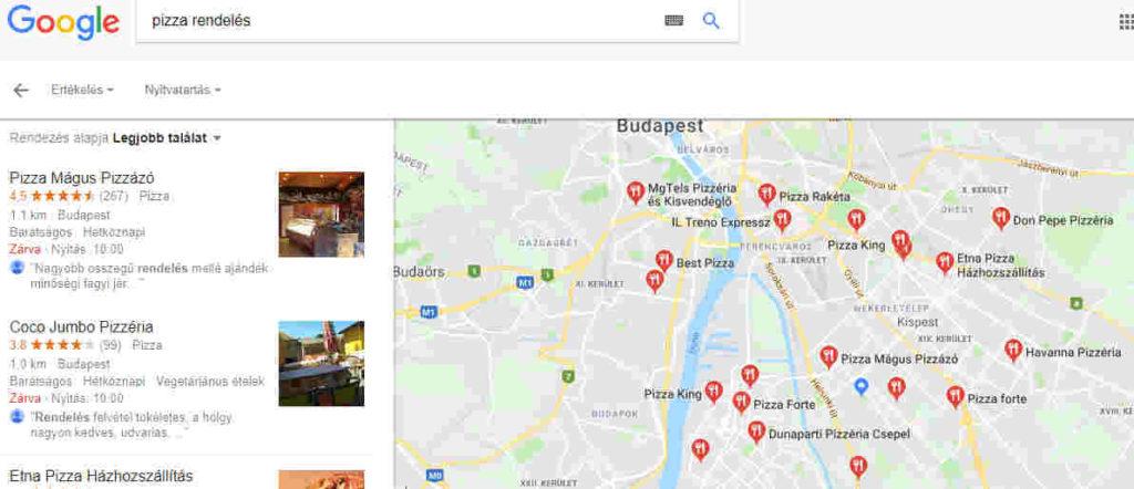 Google Cégem további helyek