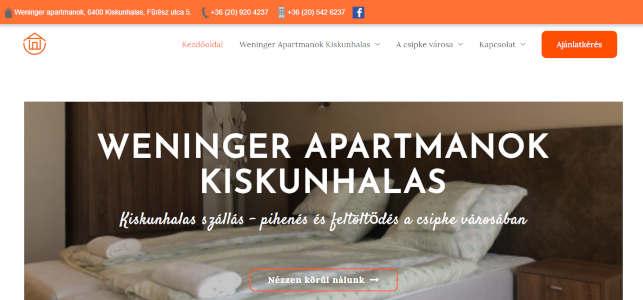 weninger apartmanok kiskunhalas