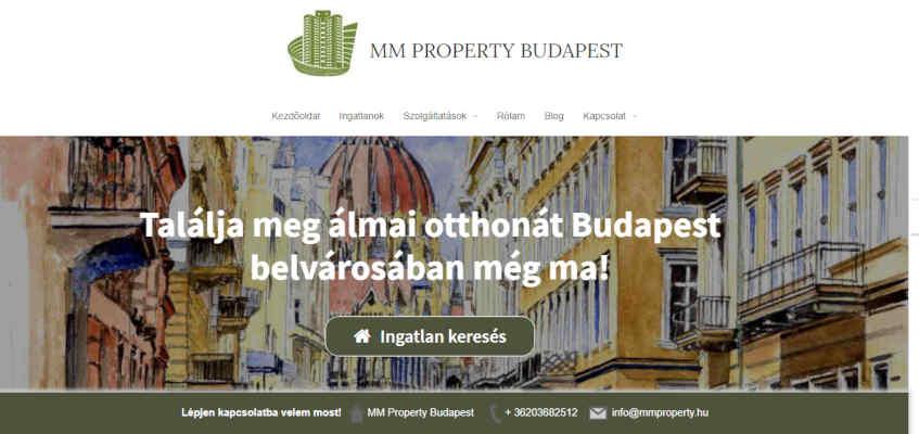 ingatlanos weboldal Budapest