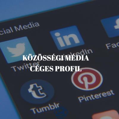 közösségi média céges profil