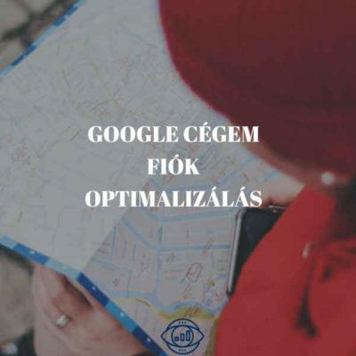 google cégem fiók optimalizálás